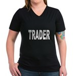 Trader Women's V-Neck Dark T-Shirt
