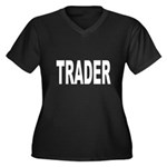 Trader Women's Plus Size V-Neck Dark T-Shirt