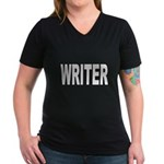 Writer Women's V-Neck Dark T-Shirt