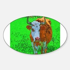 TEXAS COW Oval Decal