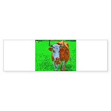 TEXAS COW Bumper Bumper Sticker