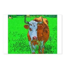 TEXAS COW Postcards (Package of 8)
