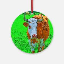 TEXAS COW Ornament (Round)