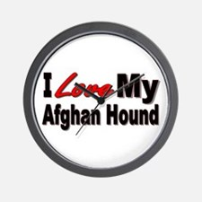 I Love My Afghan Hound Wall Clock