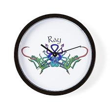 Ray's Celtic Dragons Name Wall Clock