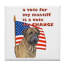 Mastiff vote Tile Coaster