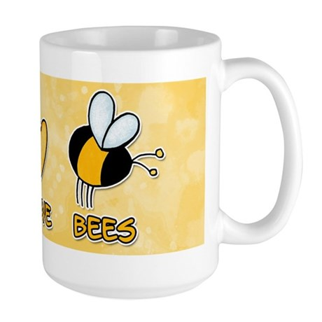 peace love bees Large Mug