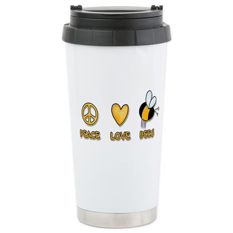 peace love bees Stainless Steel Travel Mug