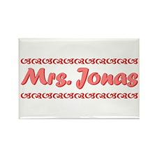Pink Mrs. Jonas Rectangle Magnet