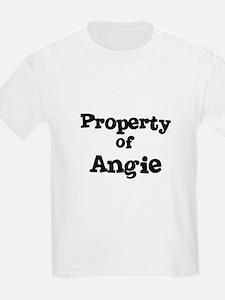 Property of Angie Kids T-Shirt