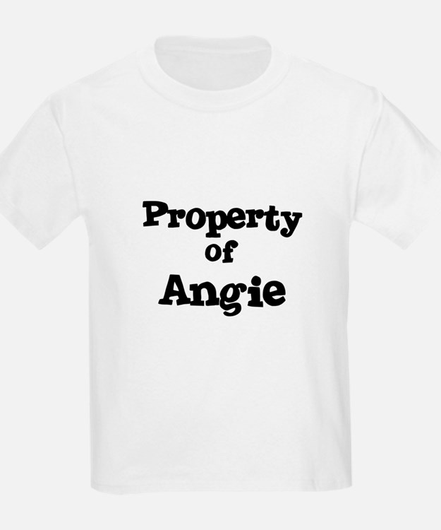 Property of Angie Kids T-Shirt