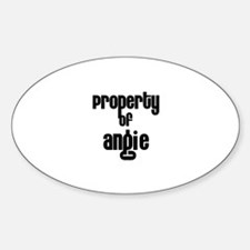 Property of Angie Oval Decal