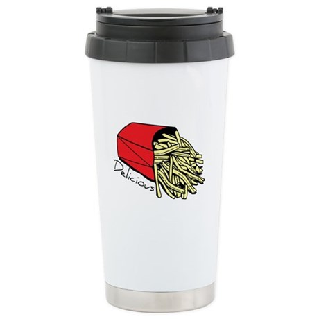 French Fries Stainless Steel Travel Mug