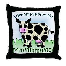 Mmmmmama's Milk Throw Pillow