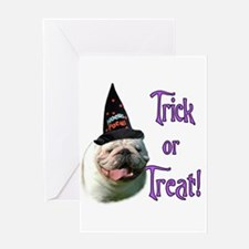 Bulldog Trick Greeting Card