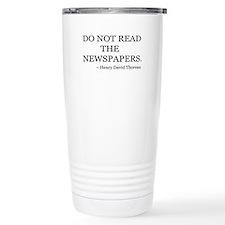 Not Read Newspapers Travel Mug