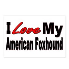 I Love My American Foxhound Postcards (Package of