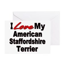 American Staffordshire Terrier Greeting Cards (Pk