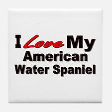 American Water Spaniel Tile Coaster