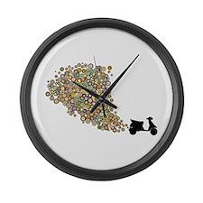 Scooter Fun Large Wall Clock