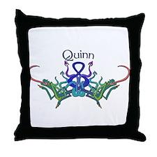 Quinn's Celtic Dragons Name Throw Pillow
