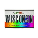 Wisconsin Rectangle Magnet (10 pack)