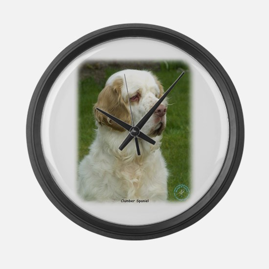Clumber Spaniel 9Y003D-101 Large Wall Clock
