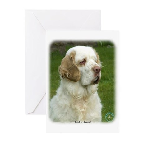 Clumber Spaniel 9Y003D-101 Greeting Cards (Pk of 2