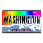 Washington Rectangle Sticker 10 pk)