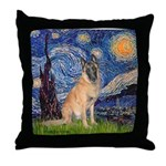 Starry/Belgian Malanois Throw Pillow
