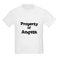 Property of Angela Kids T-Shirt