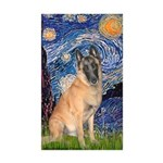 Starry/Belgian Malanois Sticker (Rectangle 10 pk)