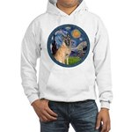 Starry/Belgian Malanois Hooded Sweatshirt
