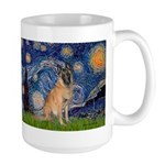 Starry/Belgian Malanois Large Mug