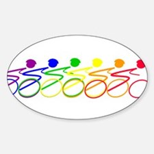 Ride a bike Oval Decal