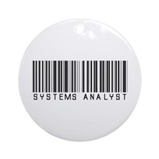 Systems Analyst Barcode Ornament (Round)