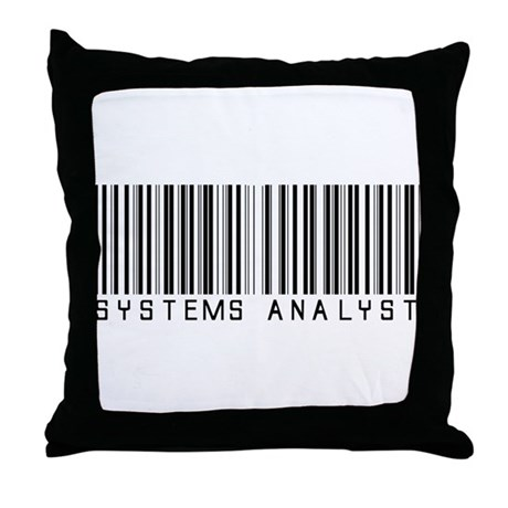 Systems Analyst Barcode Throw Pillow