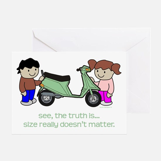 It's Not All About Size Greeting Card