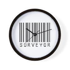 Surveyor Barcode Wall Clock