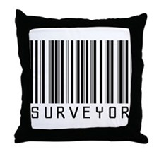 Surveyor Barcode Throw Pillow