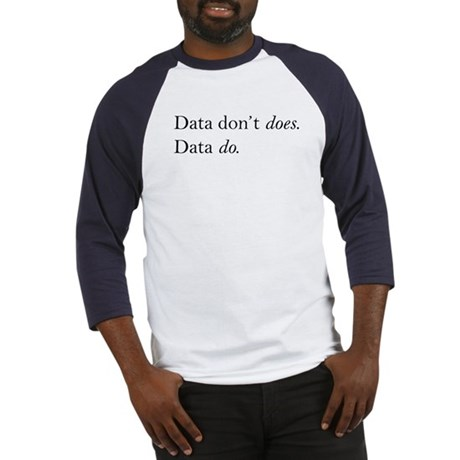 Data Do Baseball Jersey