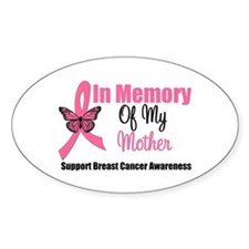 In Memory of My Mother Oval Decal
