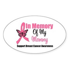 In Memory of My Mommy Oval Decal
