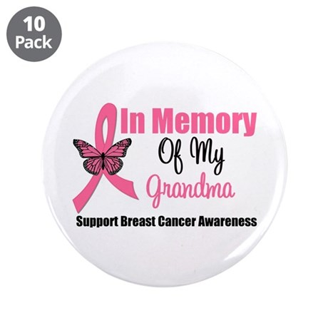 "In Memory of My Grandma 3.5"" Button (10 pack)"