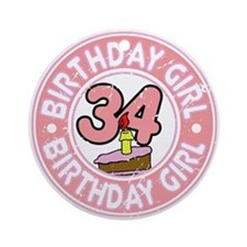 Birthday Girl #34 Ornament (Round)