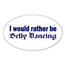 Belly Dancer Oval Decal