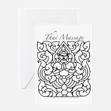 "Thai Massage ""Rama"" Design Greeting Card"