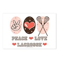 Peace Love Lacrosse Postcards (Package of 8)
