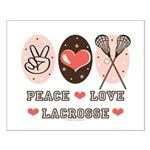 Peace Love Lacrosse Small Poster
