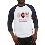 Peace Love Lacrosse Baseball Jersey